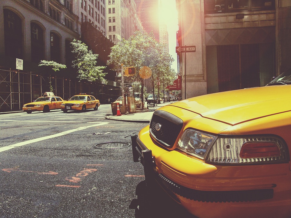 yellow taxi cab - perfect transportation after moving to New York