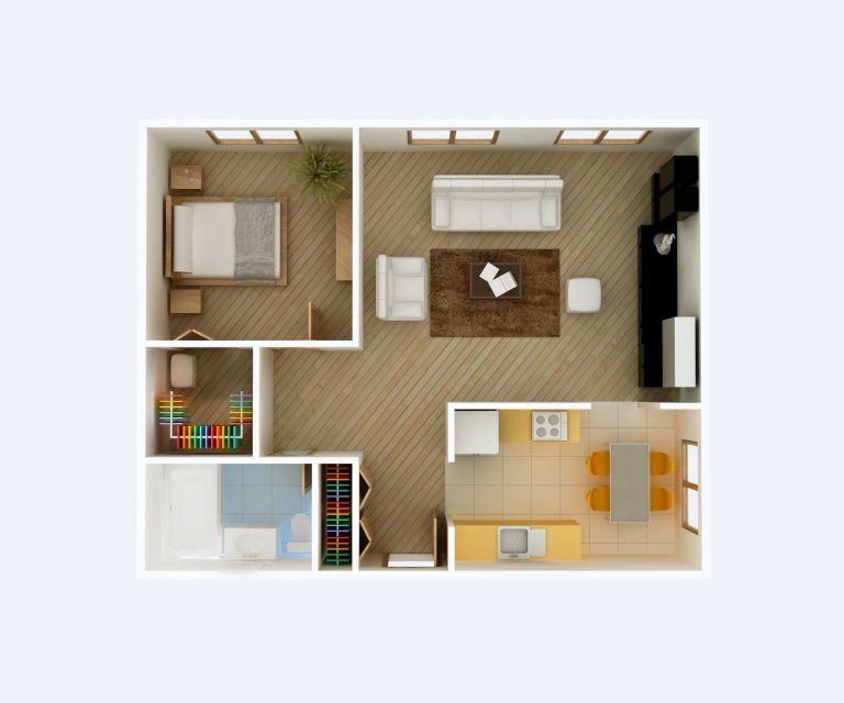 House image from birds eye view. In-House Moving