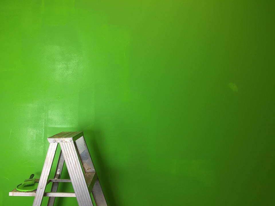 Paintbrush and step ladder are the tools for DIY Home Redecoration you will be using quite a bit.