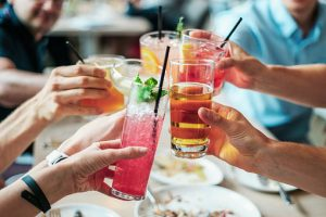 People drinking in bar is great opportunity to meet someone who can be the part of your job network
