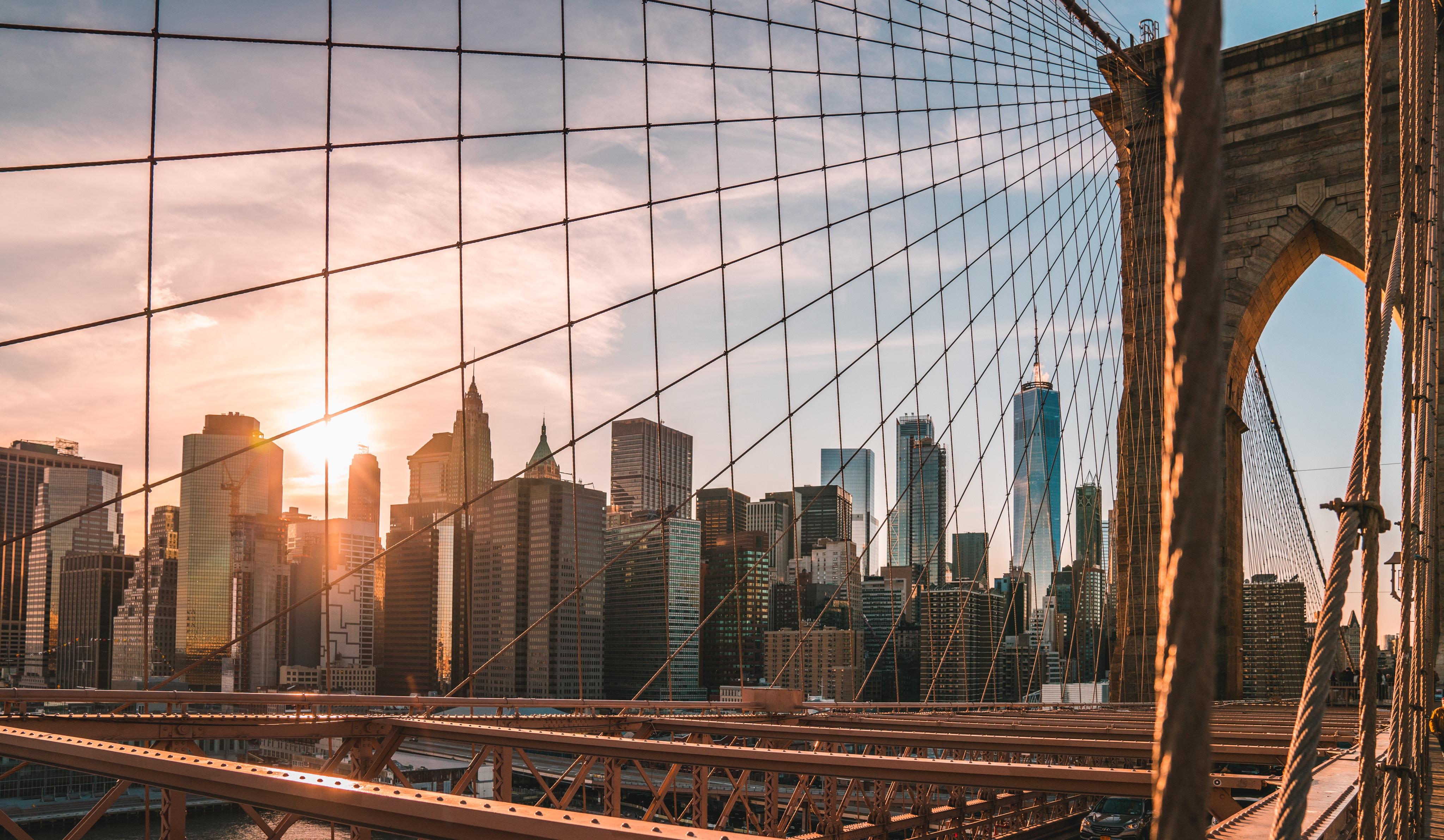 moving to Brooklyn - Brooklyn bridge and sunset