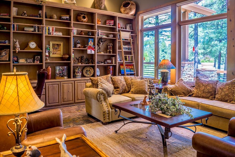 A pleasant interior of a living room