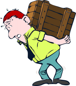 A man lifting a heavy crate