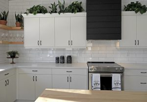 Changing the color of the kitchen walls and cabinets will give a fresh look