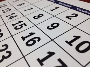 A calendar which you should take a look at before applying for moving expenses deduction.