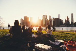 group of people at a picnic in NYC