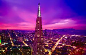 An aerial view of San Francisco.
