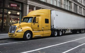 a moving truck in Manhattan