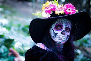 Spooky Halloween costume.