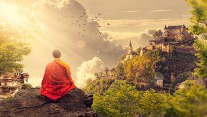 Meditation in nature.