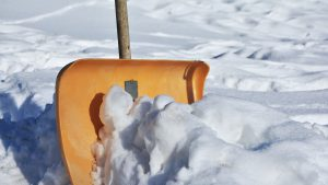 Snow shovel is a must if you don't want to move before winter comes