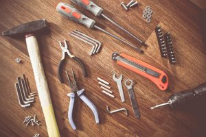 Service maintenance using various tools for building maintenance