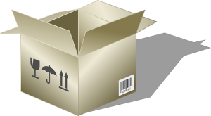 A box, if you prepare your box properly it will be easy to pack glassware safely