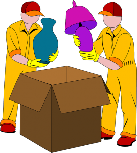Movers properly packing fragile, which shows you should chose professional movers over DIY moving