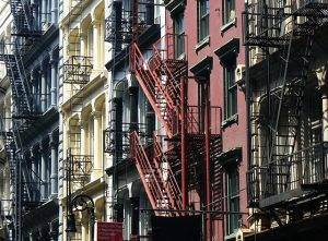 Colorful apartment buildings in SoHo.