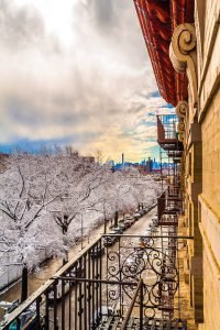 Winter-proofing your home -a view from a balcony