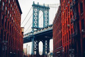 George Washington Bridge in the oldest neighborhoods in NYC