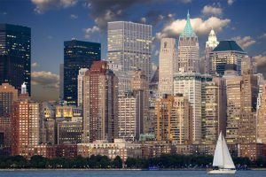 NYC neighborhoods for office rental - view of the NYC from a sea