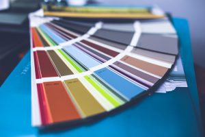 Color pallet for wall paint.