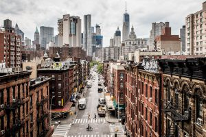 birds eye view on NYC