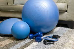 Pack gym equipment gym ball and dumbels