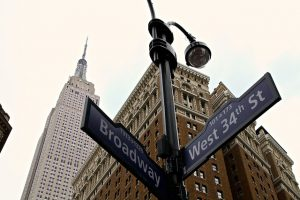 Street signs in New York City.