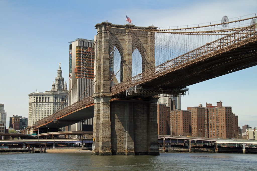 Once you cross this famous Brooklyn Bridge you'll be able to find some of the safest neighborhoods in NYC.