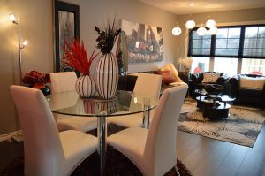 Living room and dining room in one - enjoy yourself after inspecting NY property before renting