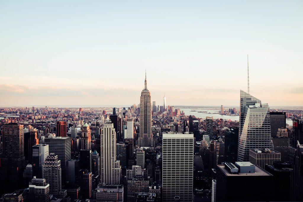 The famous Manhattan skyline.