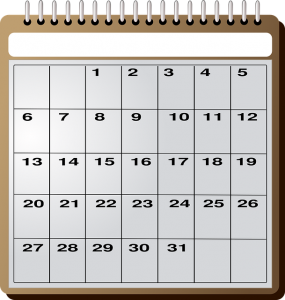 The calendar will be your best friend during relocation.
