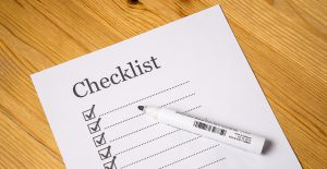A checklist - The more organized you are, the more stress-free packing you will have.