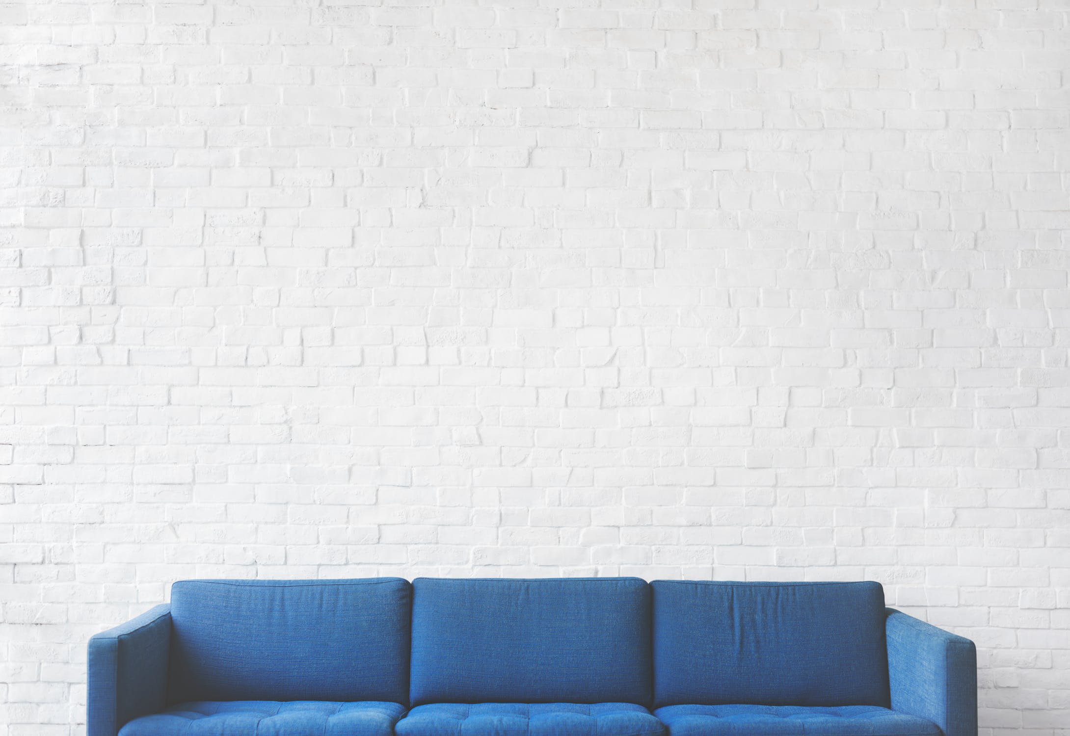 A blue couch
