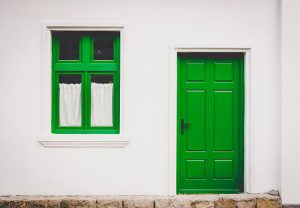 You can paint your door green to feel happier.