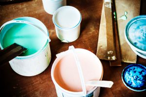 buckets of paint for remodel your NYC home projects