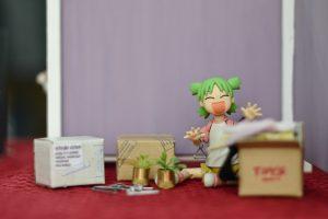 Miniature figurines display