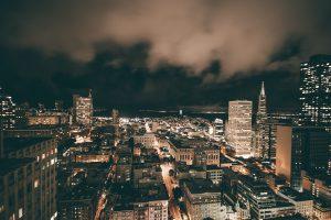 A California city skyline