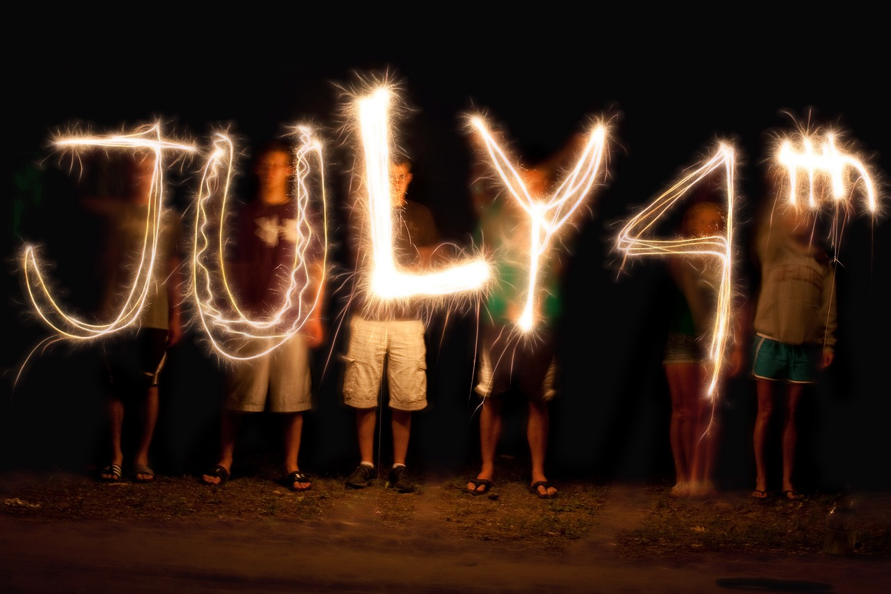 ''July 4th'' written sparklers. Here are some 4th of July events in NYC.