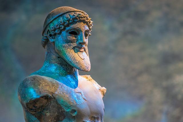 Statue of the god Poseidon