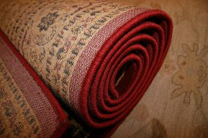 A rolled up rug.
