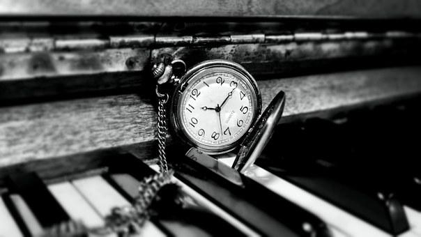 Clock on the piano