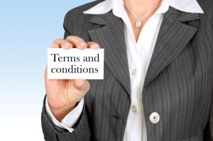 terms and conditions card
