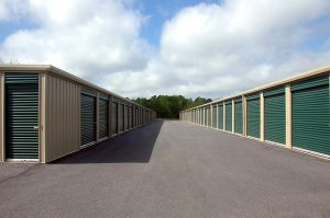 Row of public storages