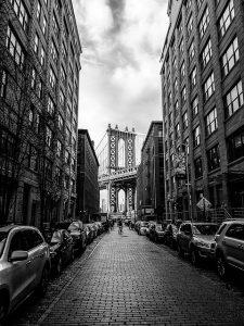 Street and Brooklyn Bridge