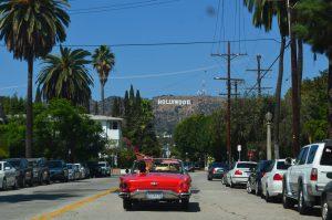a car in LA street