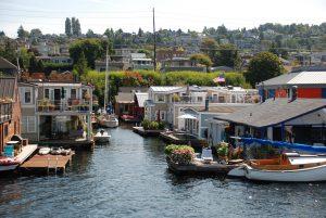 Seattle houses near lake