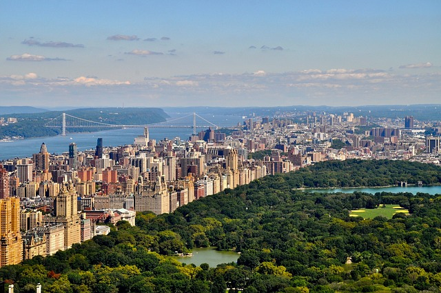 Aerial view of Manhattan and Central Park