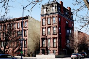 a new york brownstone on the corner